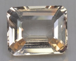 ~UNTREATED~ 34.26 Cts NATURAL TOPAZ OCTAGON MINT YELLOW BRAZIL