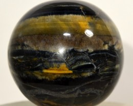 51mm Blue Yellow Tiger's Eye Crystal Mineral Sphere Africa STBYTEBNA66