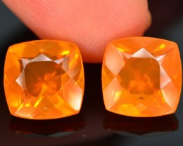 4.74 ct Natural Untreated Mexican Fire Opal Pairs Sku.1