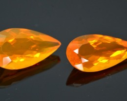 8.44 ct Natural Untreated Mexican Fire Opal Pairs Sku.1