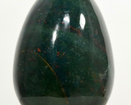 "2.1"" Natural Bloodstone Egg Green / Red Crystal Mineral India FBE-NA66"