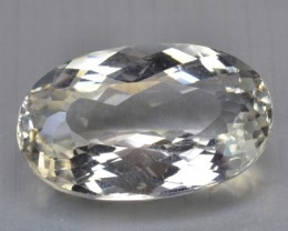 ~UNTREATED~ 37.38 Cts NATURAL TOPAZ OVAL MINT YELLOW BRAZIL