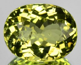 9.22 Cts Natural Canary Yellow Tourmaline Oval Mozambique