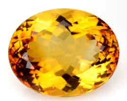 7.81 Cts Natural Golden Orange Citrine Oval Cut Brazil Gem