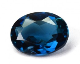 *INDICOLITE* 0.66 Cts Natural Blue Tourmaline Oval Mozambique