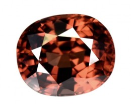 4.64 Cts Natural Imperial Brown Zircon Oval Tanzania