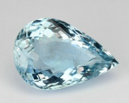 3.44 Cts Natural Santa maria Blue Aquamarine Pear Brazil