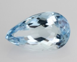 1.40 Cts Natural Santa maria Blue Aquamarine Pear Brazil