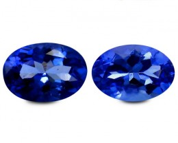 0.92 ct PGTL Certified Great looking Oval Purplish Blue Tanzanite