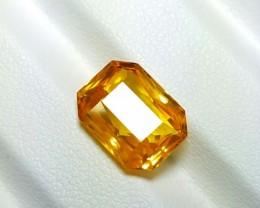 CERTIFIED 5.37 CTS NATURAL BEAUTIFUL VVS RADIANT MIX ORANGE SAPPHIRE CEYLON