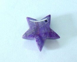 8ct Natural Sugilite Carved Star Pendant (17081101)
