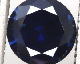 1.05CTS AUSTRALIANDARK  BLUE UNHEATED  SAPPHIRE FACETED  PG-2268 GC