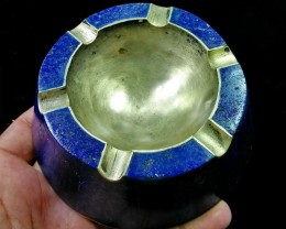 1180CT Natural lapis lazuli Carved Ashtry Stone Special Shape