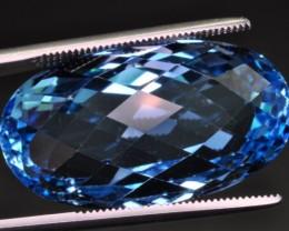 natural 37.85 ct fancy shape topaz gemstone