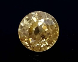 1.35 Crt yellow zircon Natural High quality Gemstone   Jl122