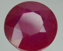 2.55 Cts Natural Blood Red Ruby Round Cut Thailand Gem