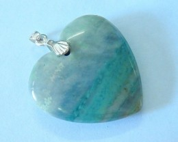 31.5ct Natural Wave Japser Heart Necklace Pendant Bead(17081604)