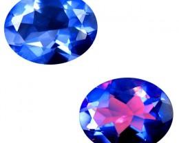 2.11 CT Romantic Oval Shape Un-Heated Color Change Fluorite Gemstone