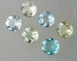 3.50 cts Sparkling Luster - cushion- Natural Muliti-color Aquamarine