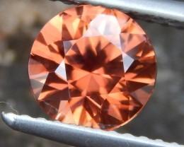 1.96cts Orange Zircon,  VVS1 Eye Clean, Brilliant Cut,  Unheated,
