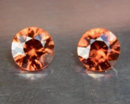 2.37cts Orange Zircon,  VVS1 Eye Clean, Brilliant Cut,  Unheated, Calibrate