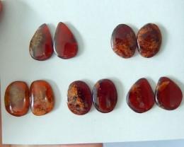 Free shipping !! SELL 5 Pairs Natural Garnet Freeform Cabochon Pairs,Semipr