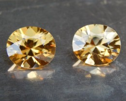 11.52cts, Yellow Zircon,  VVS1 Eye Clean,
