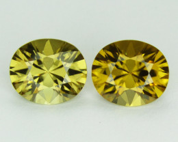 11.52cts, Yellow Zircon,  VVS1 Eye Clean,