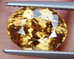 4.38cts, Yellow Zircon,  VVS1 Eye Clean,