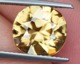 5.87cts, Certified Yellow Zircon,  VVS Eye Clean,