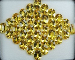 57.00 CTS DAZZLING TOP NATURAL YELLOW BERYL 9X7 MM OVAL PERFECT CUT!