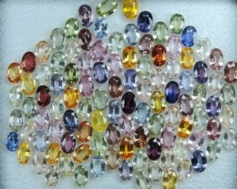 36.64 CTS EXCELLENT NATURAL ULTRA SRILANKAN FANCY SAPPHIRE HEATED 103 PCS