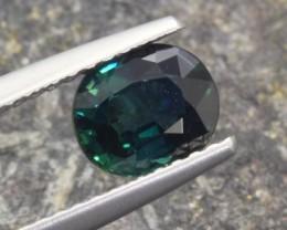 1.14Ct Natural Greenish Blue Sapphire Oval Cut