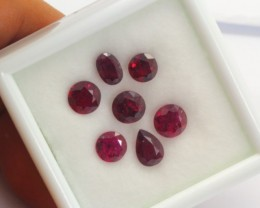6.38Ct Natural Pigeon Blood Red Ruby Traditional Heat Mix Cut