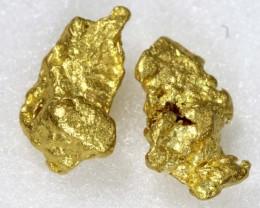 6.21 CTS AUSTRALIAN GOLD NUGGET PAIR 24K TBM-1332