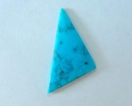 6.5ct Natural Turquoise Triangular Cabochon,Semiprecious Fashion Gemstone J