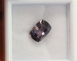 2.11Ct Natural Purple Grey Spinel Octagon Cut