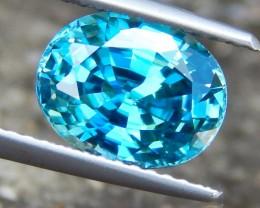 4.12cts, Blue Zircon, VVS1 Eye Clean,