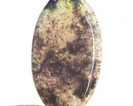 Genuine 35.15 Cts Oval Shape Moss Agate Untreated Cab