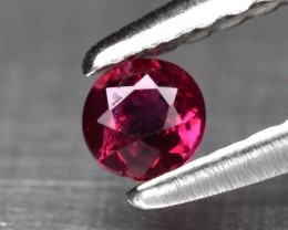 Rare! 0.13ct 2.8mm Round Natural Unheated Untreated Rich Red Ruby