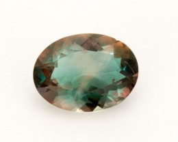 1.2ct Green Red Oval Sunstone (S1595)