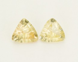 3.65ct Total Weight Champagne Triangle-Shaped Sunstone Pair (S2510)