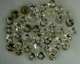 4.96 Cts Natural Diaspore 3 mm Round 43 Pcs Parcel
