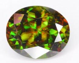 Gil Cert Exceptional Color 2.79 ct Natural Green Sphene SKU.2