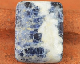 Genuine 29.75 Cts Untreated Blue Sodalite Cab