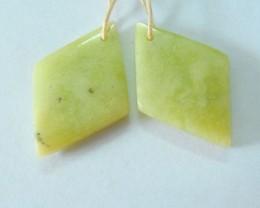 24ct Natural Serpentine Diamond Shape Earrings For Women, Fashion Charm Ear