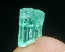 1.95CT Natural - Unheated Green  Emerald Crystal
