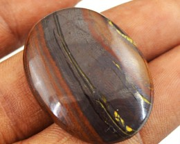Genuine 40.25 Cts Iron Tiger Eye Oval Shape Cab
