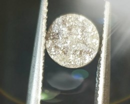 1.75ct 7.25mm round Raw Champagne diamond round cut like druzy 7.25mm by 3.