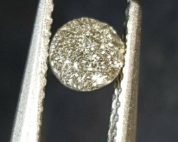 0.81ct 6mm Raw steel grey diamond round cut like druzy 6 by 2.9mm